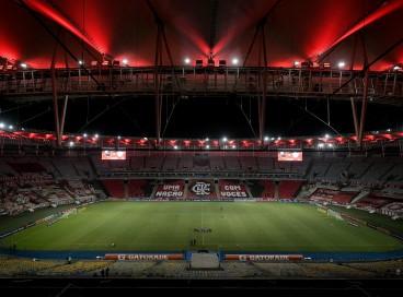 Estádio do Maracanã, no Rio de Janeiro, em jogo do Flamengo pela Copa Libertadores