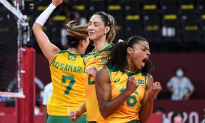No 14º dia olímpico, Brasil garante nova final contra os Estados Unidos no vôlei feminino
