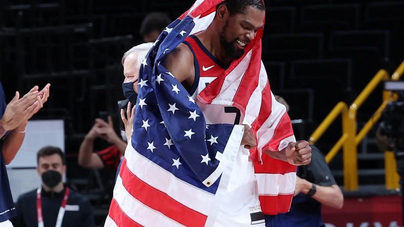Estrela da NBA, Durant destaca conquista do ouro olímpico pelos EUA em  Tóquio 2020