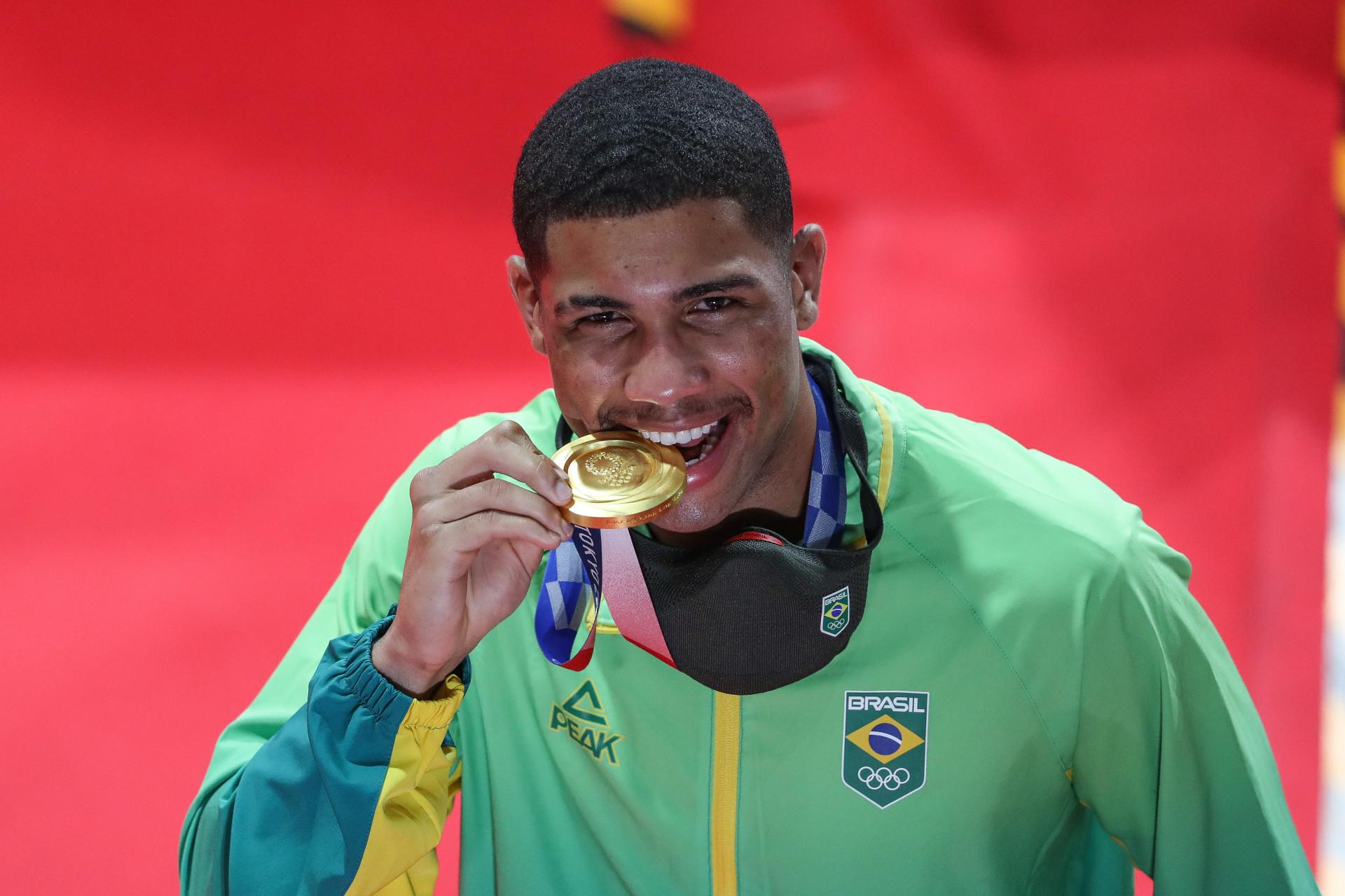 Ouro de Hebert Conceição foi uma das oito medalhas olímpicas brasileiras na história do boxe (Foto: Wander Roberto/COB)
