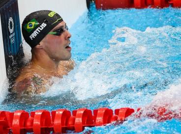 31.07.2021 - Jogos Olímpicos Tóquio 2020 - Natação Masculina. 50 metros livres. Na foto o atleta Bruno Fratus