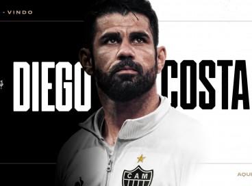 Atacante Diego Costa acertou com o Atlético-MG até o final de 2022