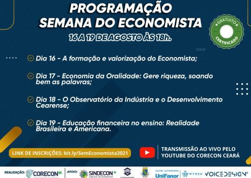 Série de eventos online celebram Dia do Economista