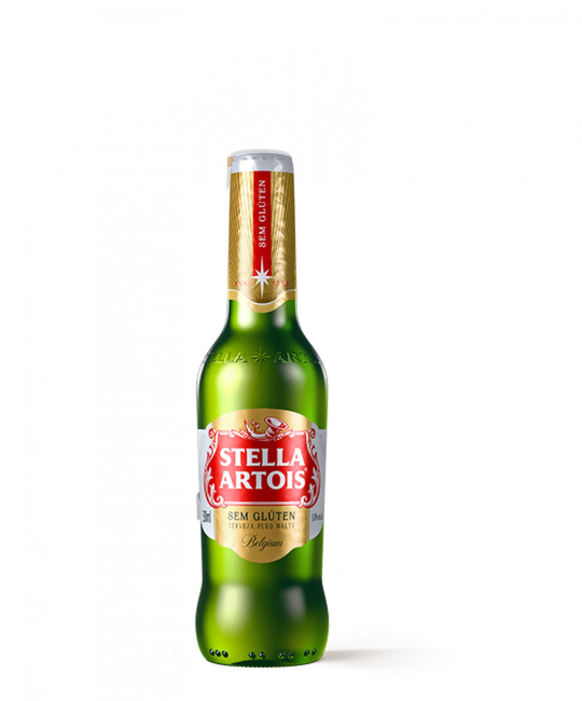 (Foto: Reprodução/Site da Ambev)Stella Artois Sem Glúten (330ml) - Ingredientes: Água, malte e lúpulo nobre. Teor alcóolico de 5%. Preço consultado no iFood: R$ 5,24
