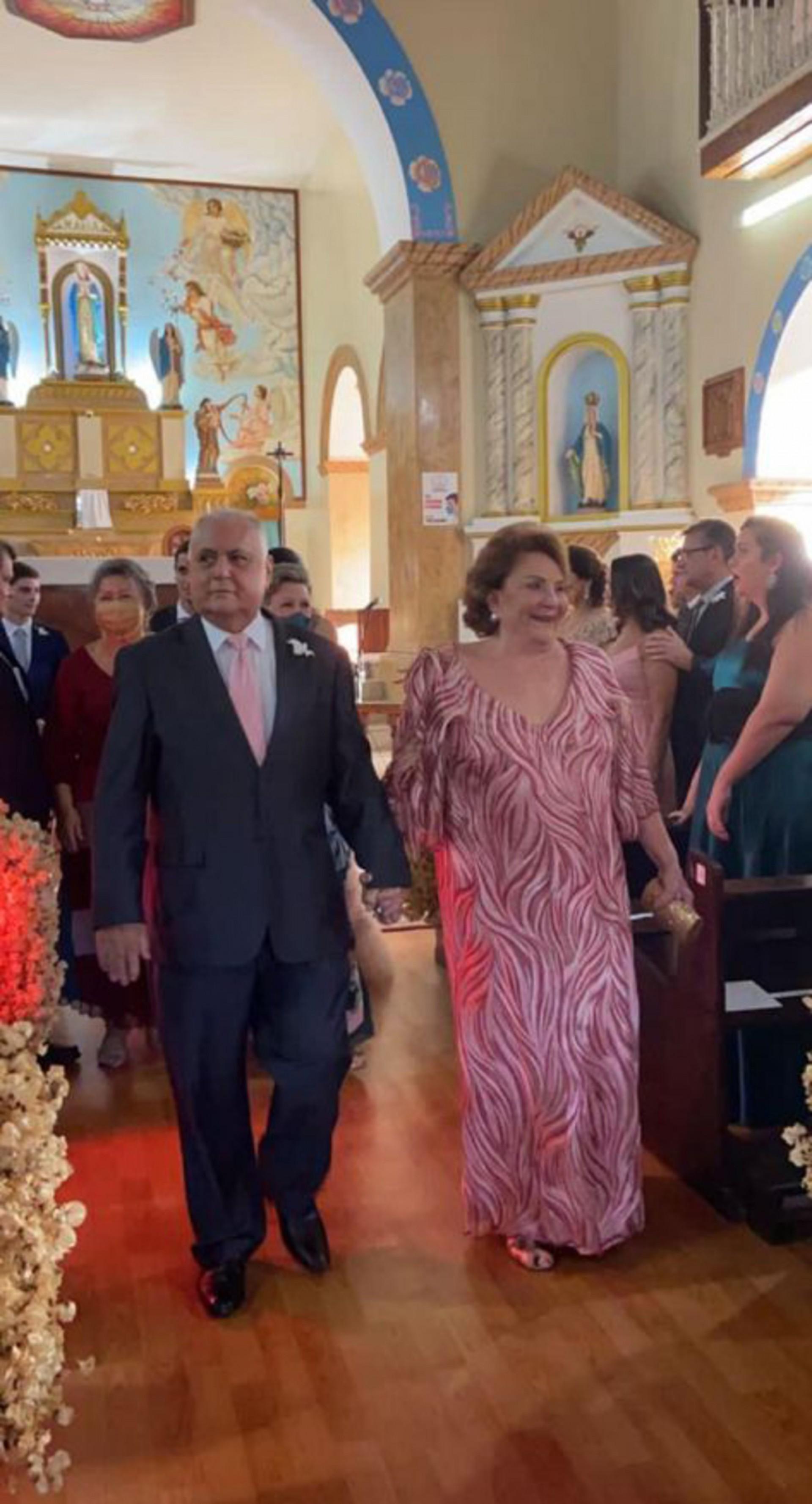 Avós materno da noiva, Maria José e Roberto Pessoa