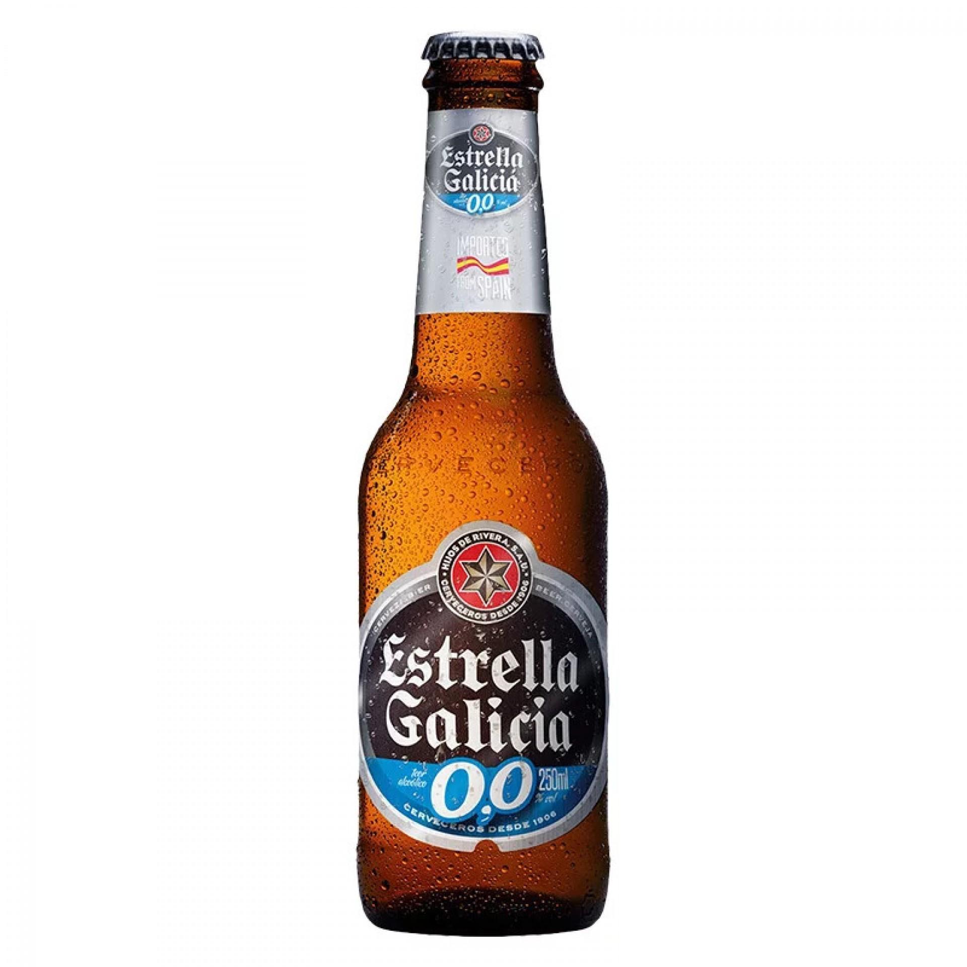 (Foto: Reprodução/Internet)Cerveja Estrella Galicia 0,0% Garrafa 250ml - R$ 4,39 (Mercantil Extra via iFood)