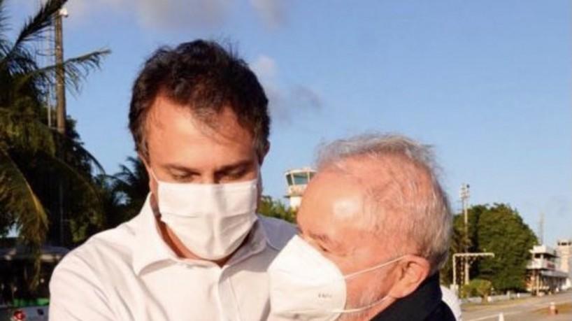 Camilo Santana recebe ex-presidente Lula: Bem-vindo ao Ceará(foto: Divulgação/Twitter)