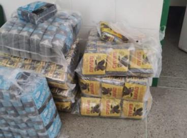 Um total de 160 quilos de fumo em embalagens falsificadas foi apreendido com homem preso em flagrante em Iguatu