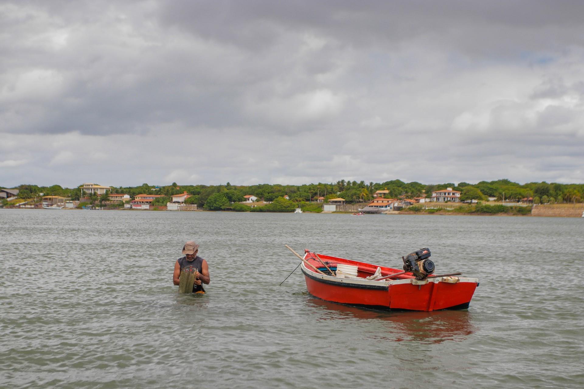 (Foto: FCO FONTENELE)Fortim, Ce, BR - 12.08.21 Década dos Oceanos - Rio Jaguaribe no município de Fortim (Fco Fontenele/O POVO)