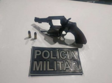 Arma utilizada em assalto a residência em Sobral