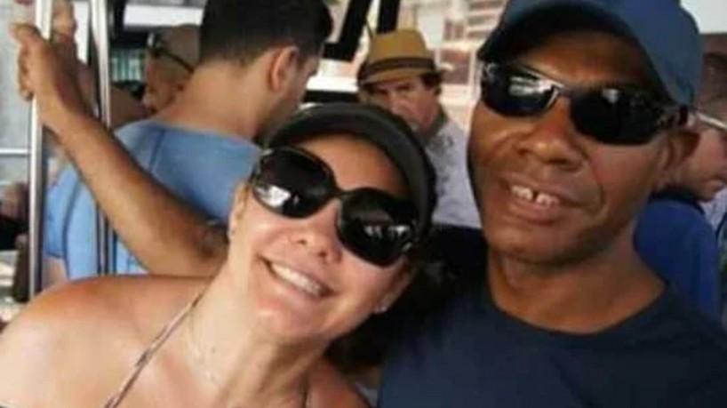 Marcelo Luiz Nogueira dos Santos e a ex-esposa de Bolsonaro Ana Cristina Valle, acusada por ele de ter ficado com 80% de seus salários (foto: ARQUIVO PESSOAL)