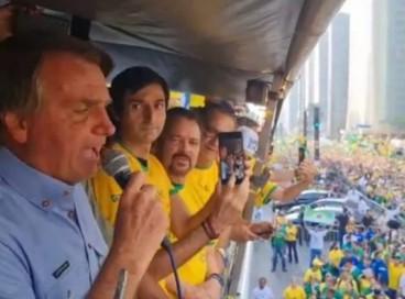 Governo de SP multa presidente Bolsonaro em ato na Avenida Paulista