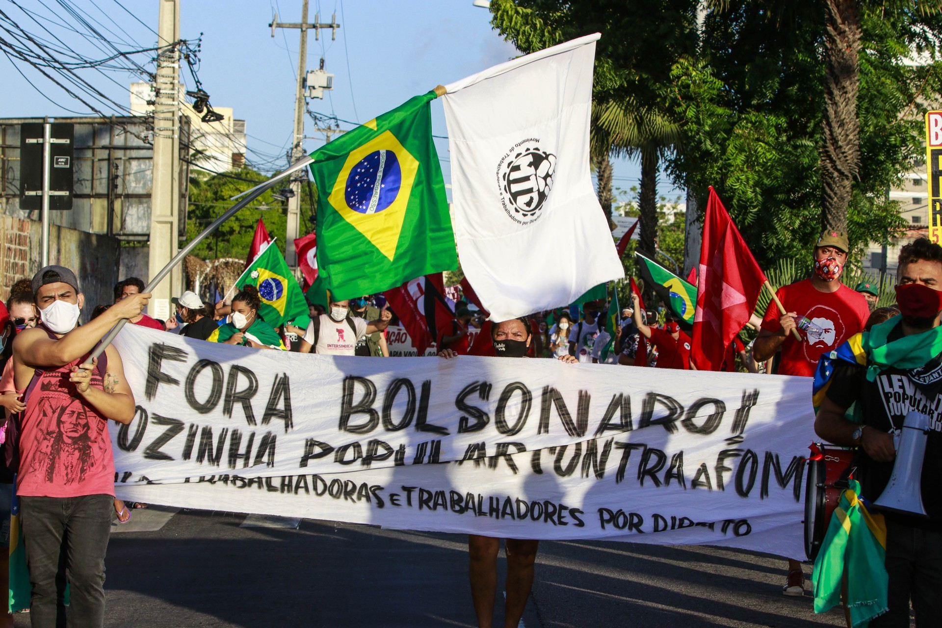 (Foto: FCO FONTENELE)Fortaleza, Ce, BR - 07.09.21 Grito dos excluidos - Grupos sociais promovem passeata em defesa dos direitos (Aquivo Pessoal)