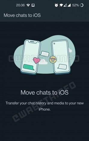Função para mover chats do WhatsApp de aparelhos Android para iPhone está em fase de testes