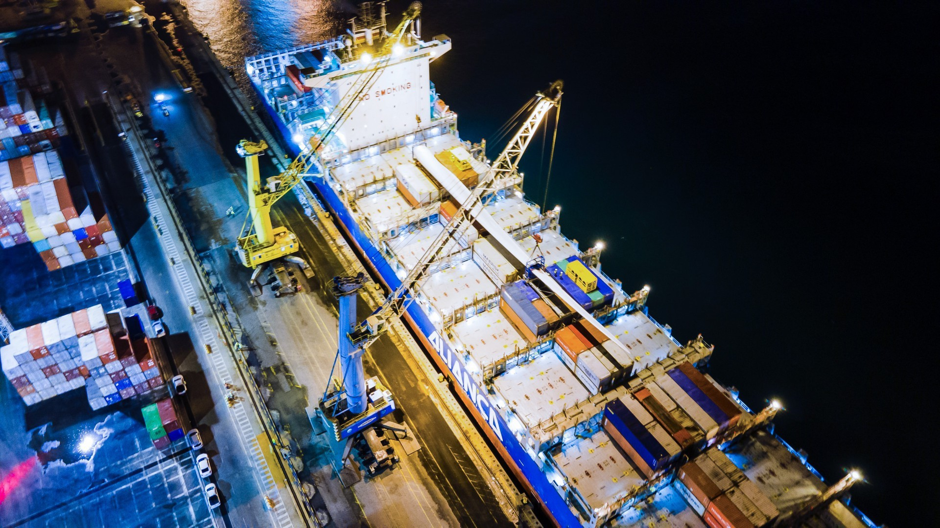 Pás eólicas representaram o segundo item de maior participação nas exportações cearenses (Foto: Arquivo APM Terminals/Divulgação)