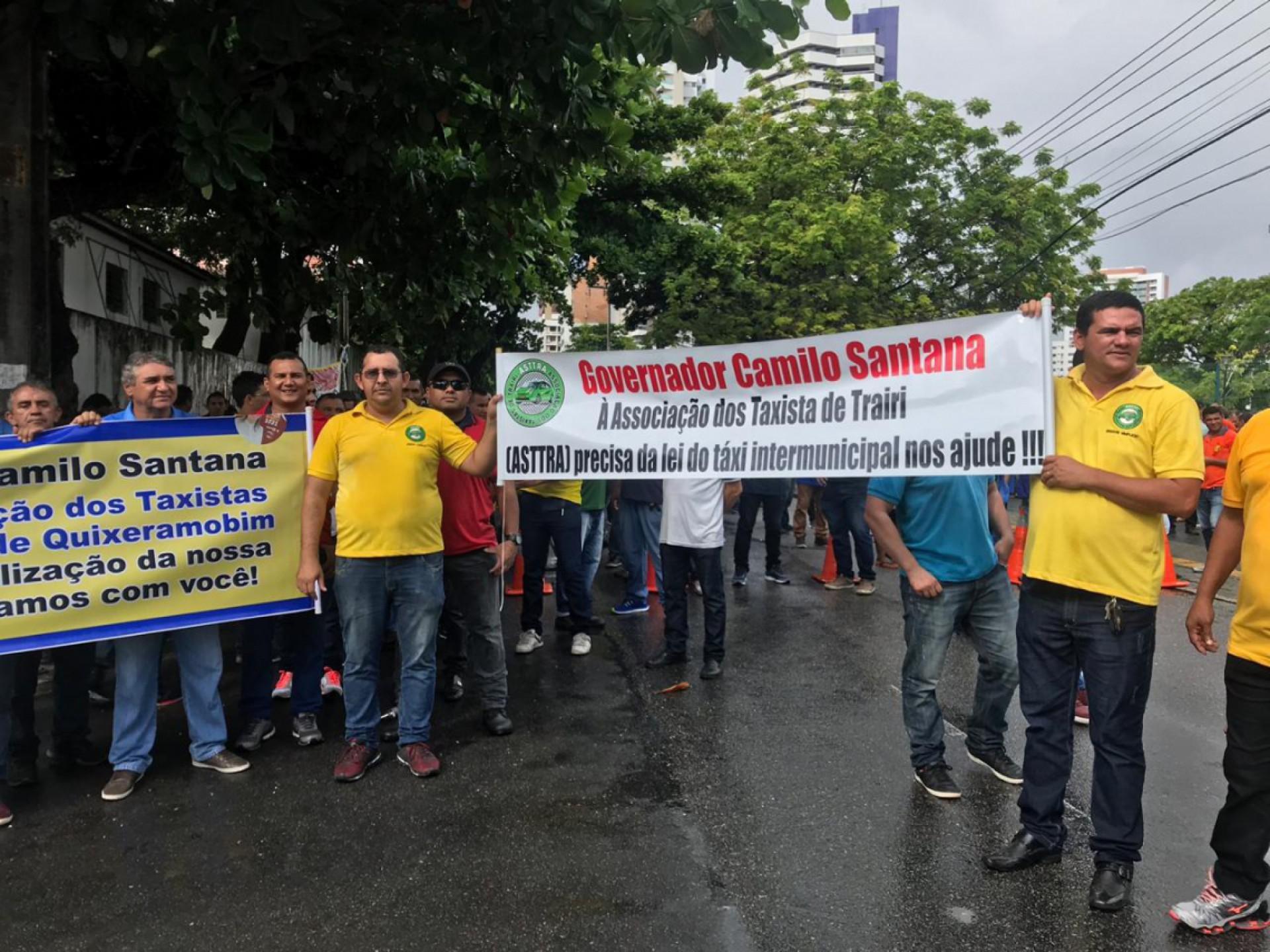 Protesto na via (Foto: Reprodução)