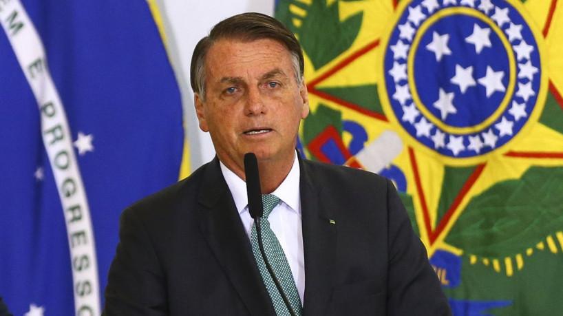 O presidente Jair Bolsonaro durante anúncio de avanços no programa federal de habitação, o Casa Verde e Amarela.(foto: Marcelo Camargo/Agência Brasil)