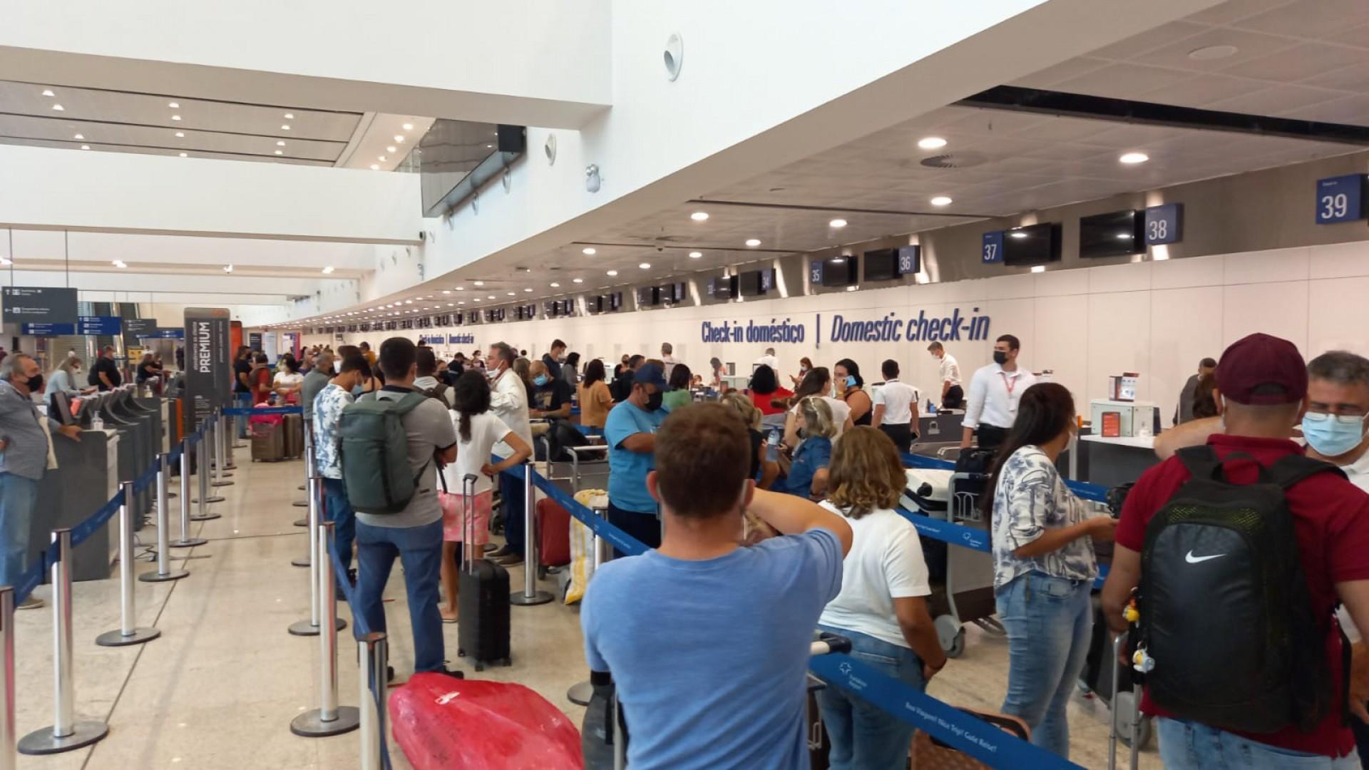 Avanço na vacinação e queda progressiva de restrições elevam demanda por voos (Foto: Whatsapp O POVO)