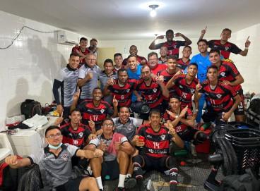 Delegação do Atlético-CE comemora classificação para a próxima fase da Série D