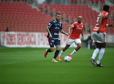 Lucas Lima em duelo entre Internacional e Fortaleza pelo Brasileirão, no Beira-Rio.