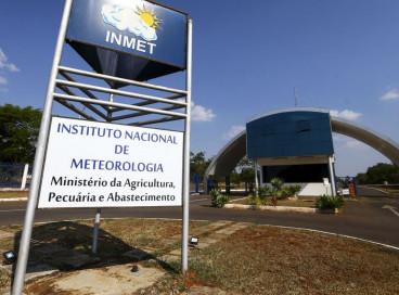 Fachada do instituto nacional de meteorologia (INMET), em Brasília.