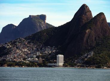 Comunidade do Vidigal, no Leblon, na zona sul do Rio de Janeiro