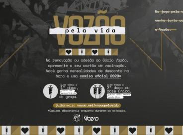 Campanha de sócio-torcedor do Ceará dá benefícios a quem estiver vacinado