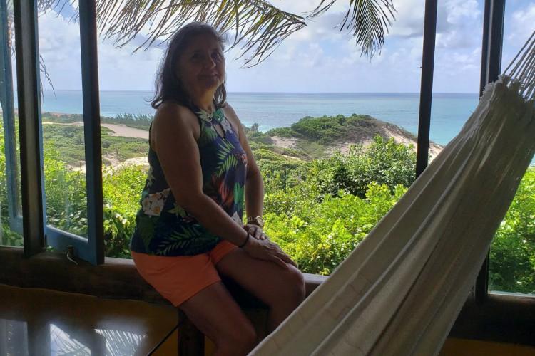 Emília Beco em Pipa, RN(Foto: Acervo pessoal)