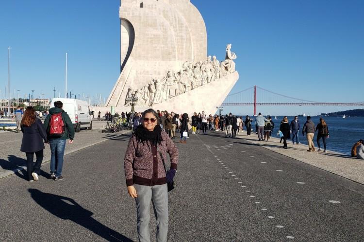 Emilia Beco, em Portugal(Foto: acervo pessoal)