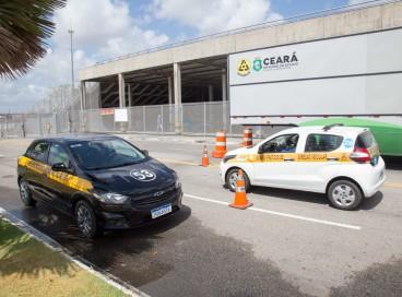 Fortaleza, 22 de setembro de 2021. Arena Castelão. Detran-CE realiza mutirão de exames práticos para categoria B (carro) no estacionamento da Arena Castelão.