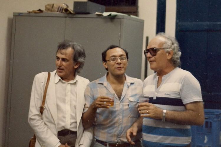Teatro e cinema: B. de Paiva, Ricardo Guilherme e Eusélio Oliveira(Foto: Arquivo pessoal)