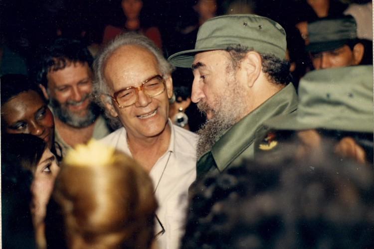 Eusélio e Fidel Castro. (Foto: Arquivo pessoal)