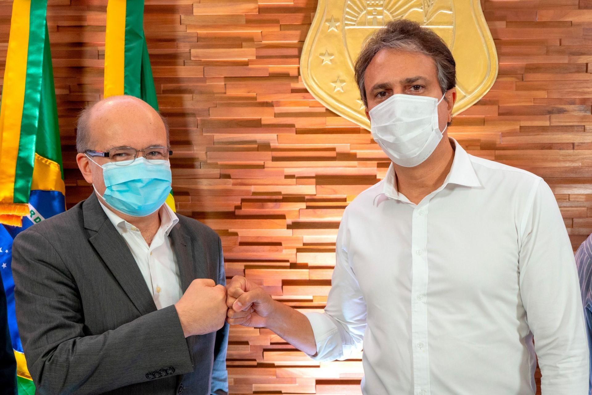 ENCONTRO do governador Camilo Santana com o  diretor geral para o setor público da AWS Brasil, Paulo Cunha (Foto: Carlos Gibaja / Governo do Ceará)