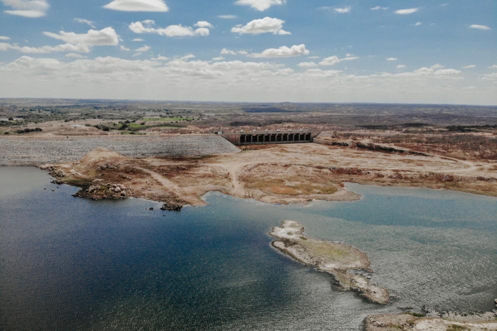 Vista aérea do açude Castanhão(Foto: JÚLIO CAESAR)