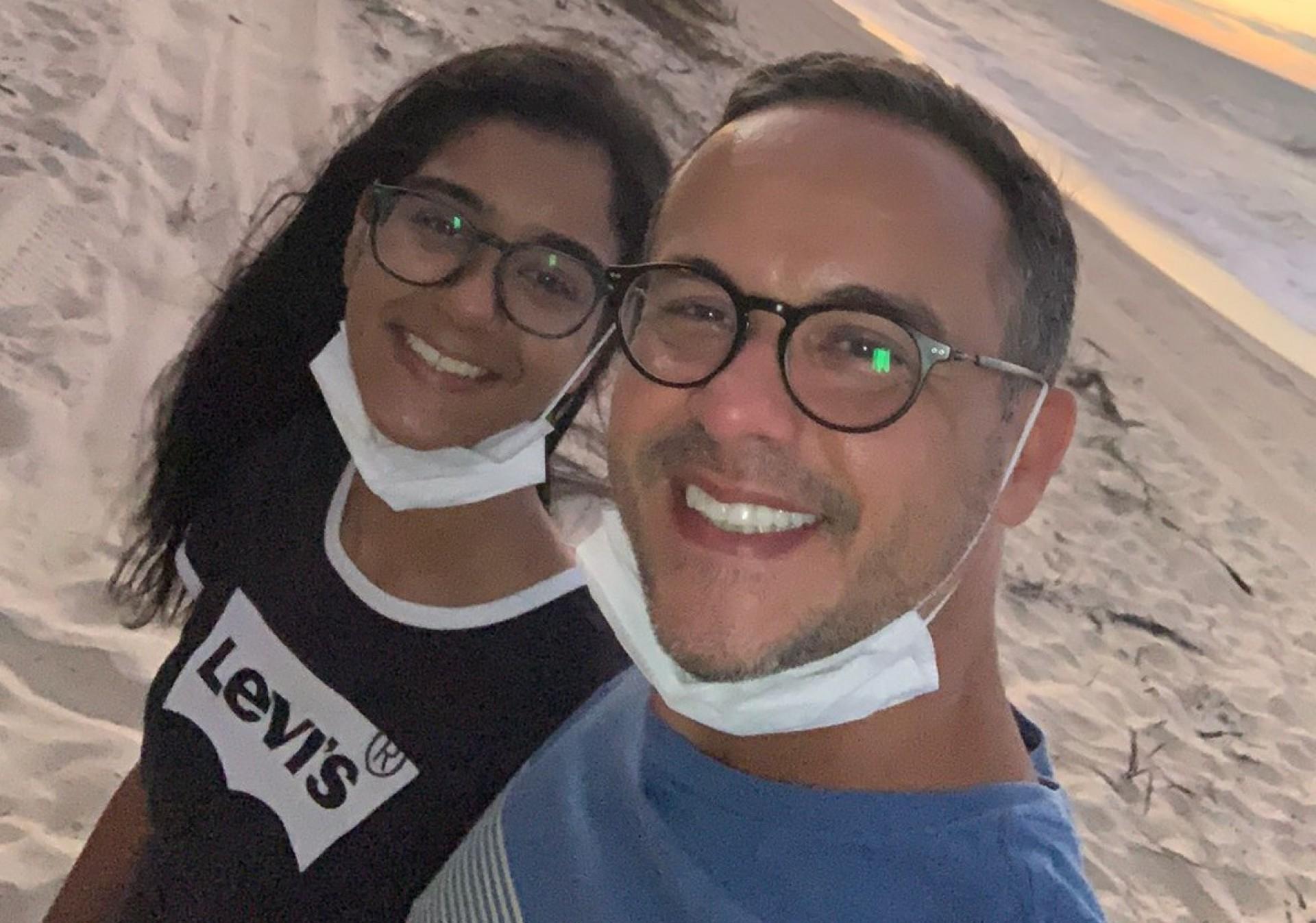 DEFENSOR público  Adriano Leitinho e a filha  dele, Mel Campos  (Foto: Arquivo Pessoal)