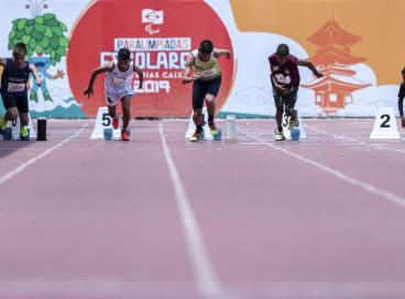 20.11.19 - São Paulo, SP - Paralimpíadas Escolares no Centro de Treinamento Paralímpico Brasileiro - ATLETISMO. Foto: Ale Cabral/CPB.