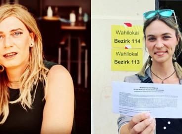 Tessa Ganserer, 44, e Nyke Slawik, 27, candidatas pelo Partido Verde, vão compor a bancada da legenda que ficou em terceiro lugar na eleição de 2021