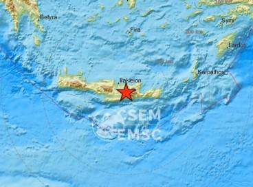 Terremoto na Grécia teve magnitude 6 e aconteceu a 10 km de profundidade, na ilha de Creta