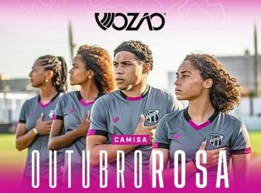 Nova camisa do Ceará faz alusão ao Outubro Rosa, campanha de conscientização sobre a importância da prevenção e do diagnóstico precoce do câncer de mama.
