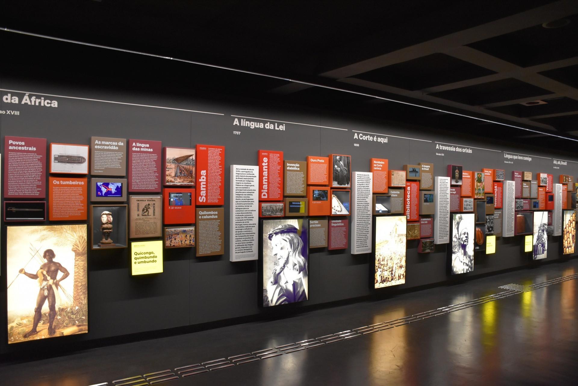 Museu da Língua Portuguesa em pleno funcionamento