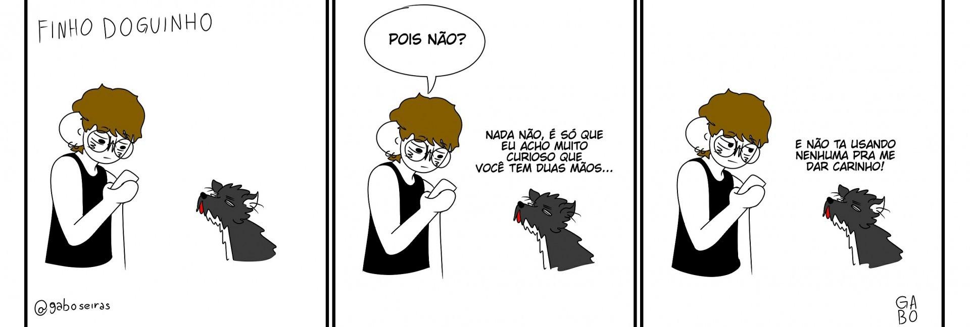 Tira Finho Doguinho, de Gabriel Amaral, para o Vida&Arte