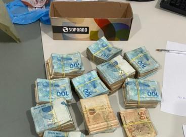 Dinheiro foi apreendido em Caucaia