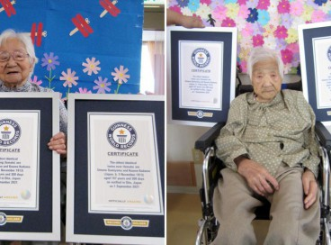 Umeno Sumiyama (esquerda) e Koume Kodama nasceram em 5 de novembro de 1913 na ilha de Shodoshima, no Japão. Hoje, moram em lares de idosos diferentes e são as gêmeas mais velhas do mundo