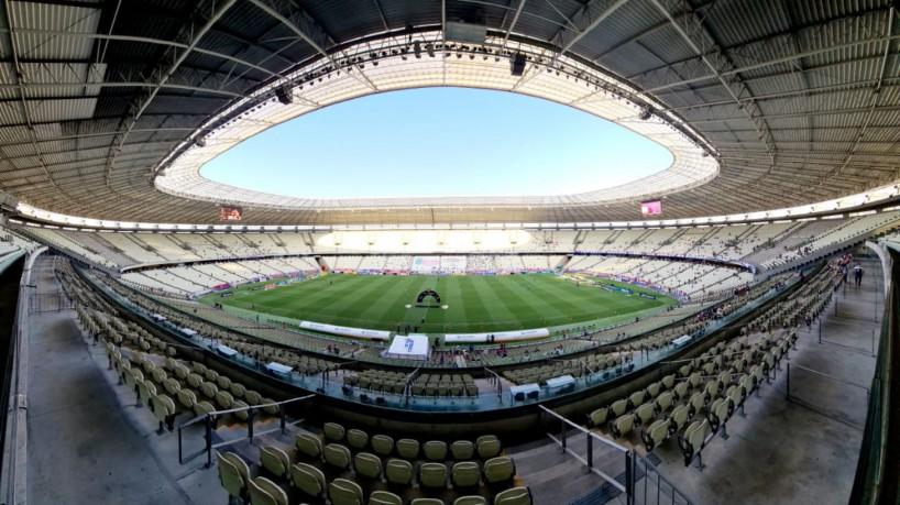 Público retornou ao estádio no jogo Fortaleza x Atlético-GO, pela Série A(foto: Fco Fontenele/O POVO)