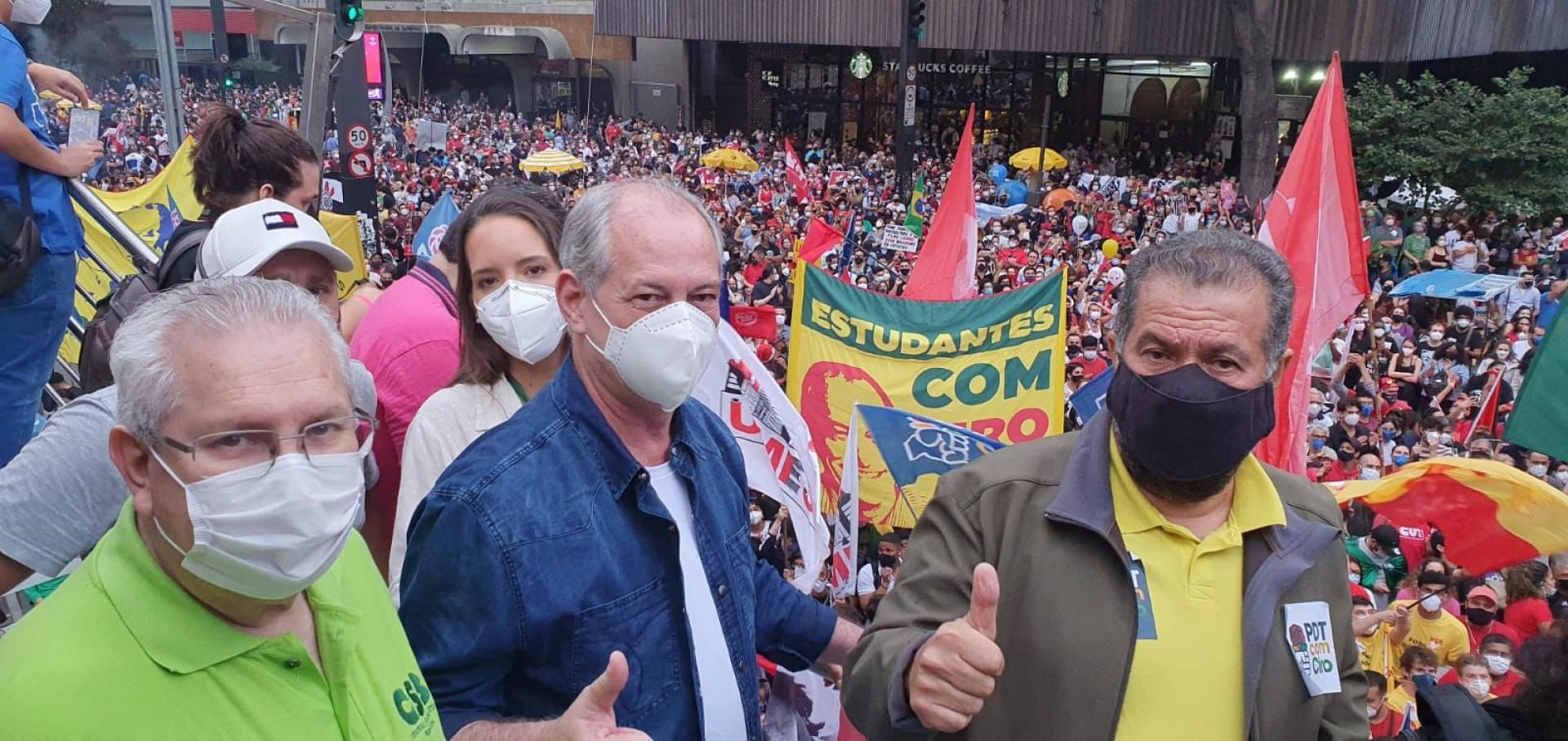 CIRO foi alvo de agressões e hostilidades após discurso na Paulista(Foto: Reprodução/Twitter)
