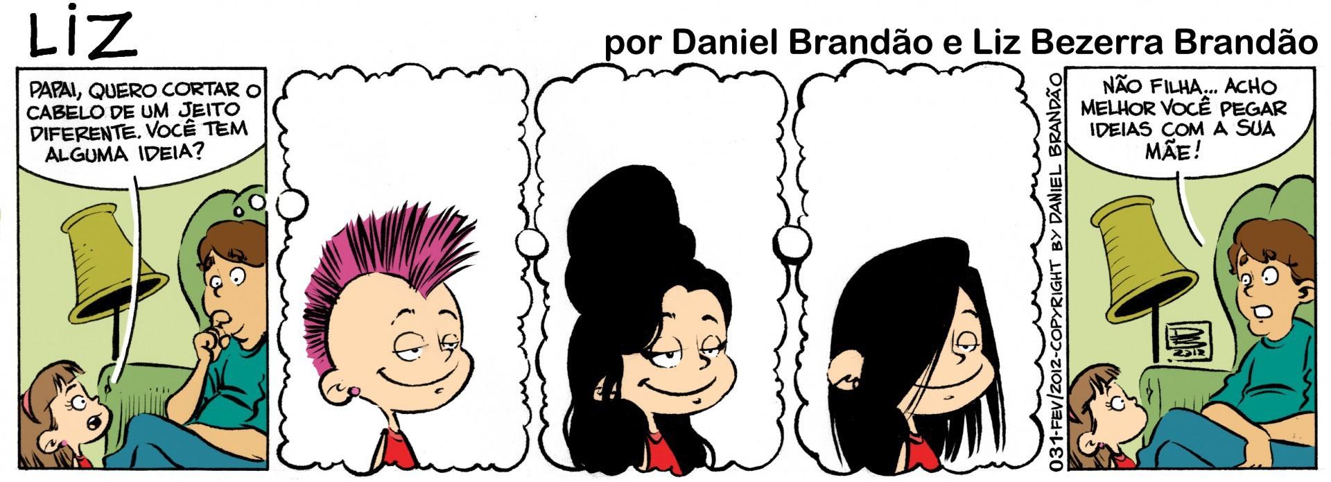 Tira Liz, de Daniel Brandão e Liz Bezerra Brandão, para o Vida&Arte