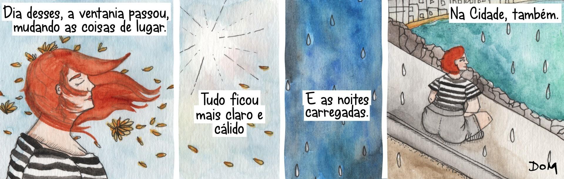 Tirinha Mulher Listrada, de Domitila Andrade