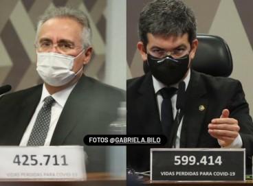 Em placas, senadores registraram número de mortes desde o início até o fim da CPI da Covid