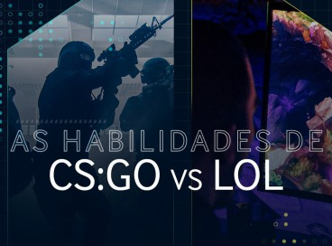diferenças de habilidades entre o CS e o LoL