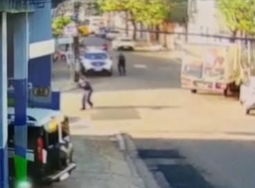 Imagens mostraram perseguição policial